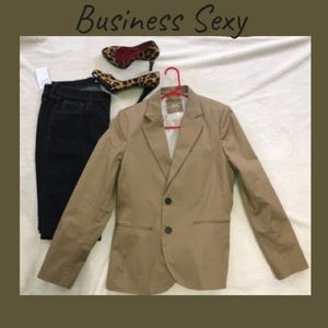 Tan 2 Button Blazer for Work or Play